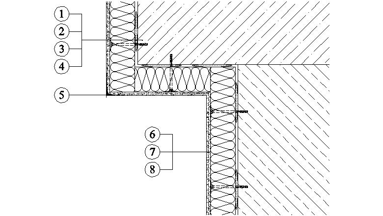 ETICS Weber therm - řešení části fasády na konzole s použitím rohového profilu s okapnicí