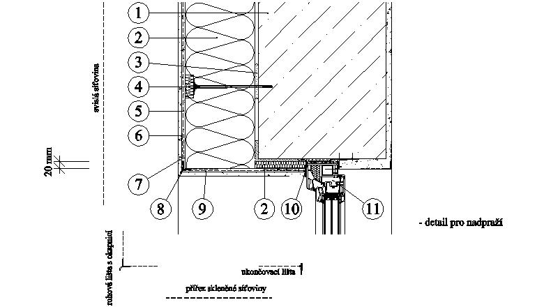 ETICS Weber therm plus ultra - detail nadpraží PKO-17-018