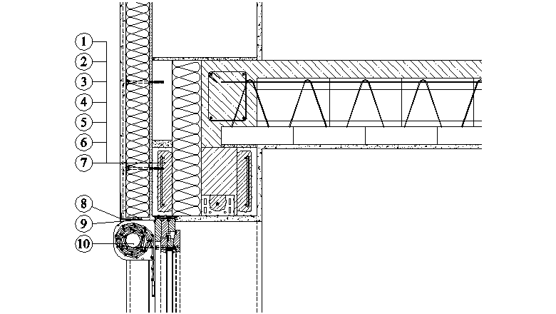 ETICS Weber therm - napojení zateplovacího systému na konstrukci venkovní rolety