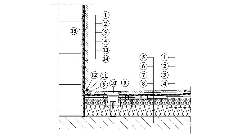 Weber podlahy - hydroizolace podlahy v koupelně - zděná konstrukce - odtok