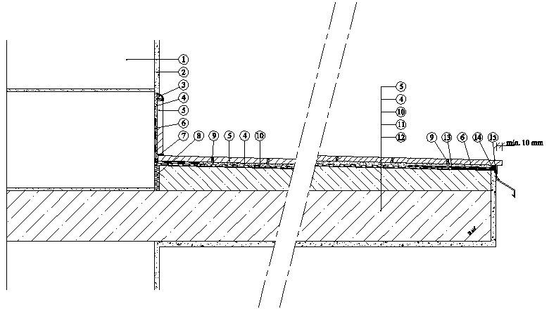 Balkony a lodžie Weber Terranova - řez balkonem