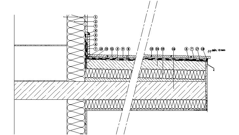 Balkony a lodžie Weber Terranova - řez balkonem - dodatečné zateplení - TERIZOL